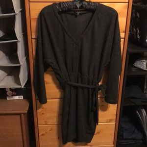 Lulu's sweater dress charcoal grey
